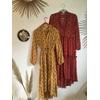 Robe isabel kilibbi bohème rouge et jaune