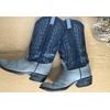 santiags vintage bleues 3