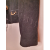blouson en daim noir vintage détail