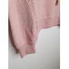 hoodie rose détail bord côte