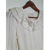 robe blanche vintage col