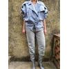 veste new man vintage porté