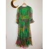robe longue en soie vintage dos