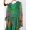 robe longue en soie vintage détail haut