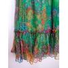 robe longue en soie vintage détail bas