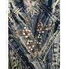 veste en jean bleached vintage détail col