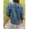 veste en jean bleached vintage portée dos bis