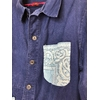 veste bleu de travail bandana bleu ciel détail bis