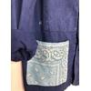 veste bleu de travail bandana bleu ciel détail