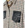 chemise vintage poches bandanas noires détail