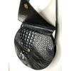 sac cuir noir vintage détail fermeture