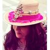 Chapeau cuir rose 3