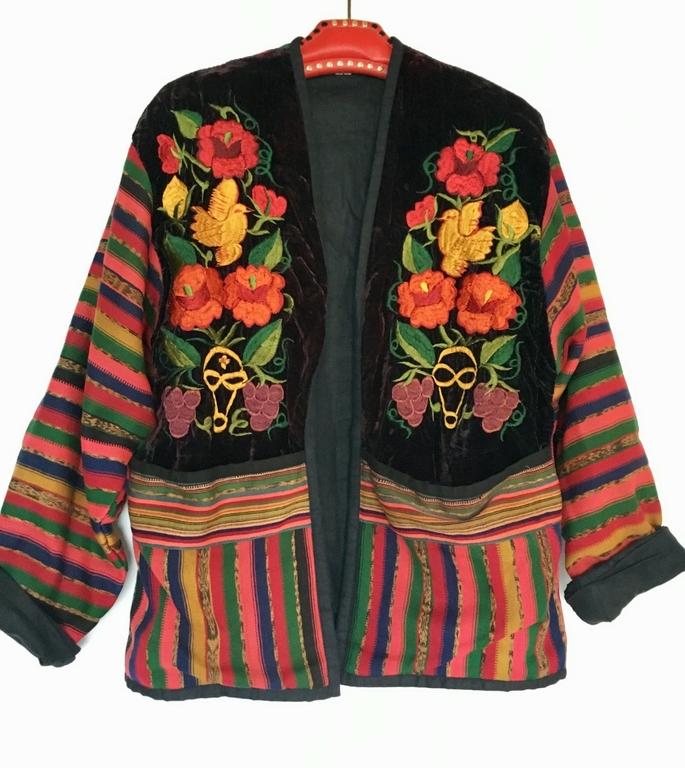 veste guatemala brodée
