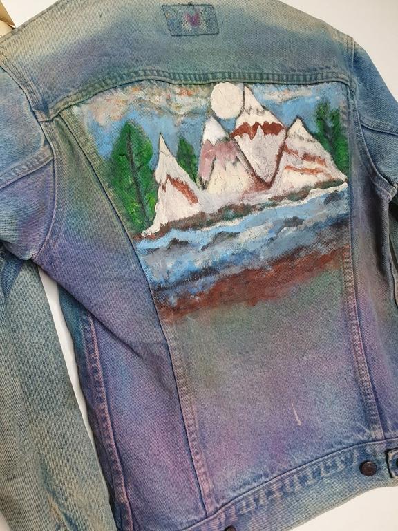 veste en jean levis vintage détail