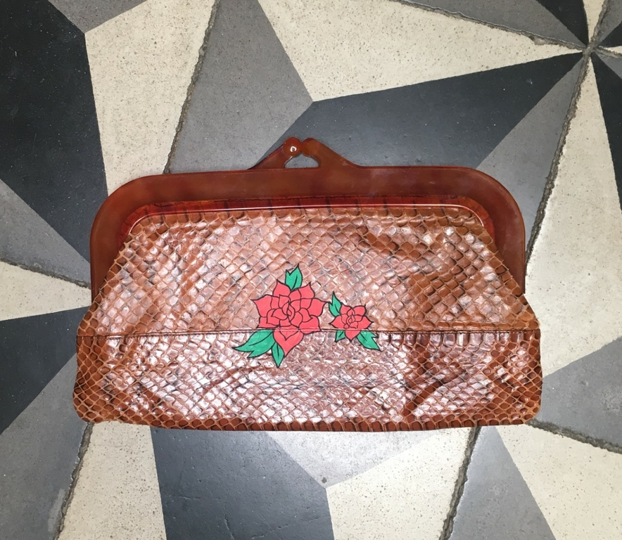 pochette vintage rose