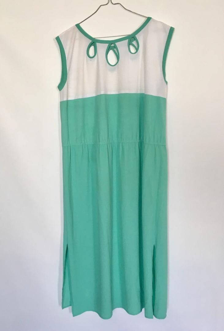 robe vintage menthe à leau