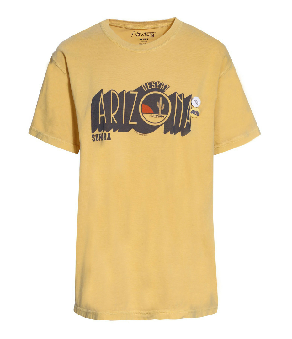 t-shirt Arizona jaune newtone