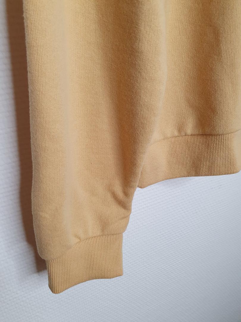 hoodie jaune détail bord côte