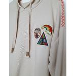 hoodie crème badge