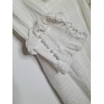 robe blanche vintage poignet