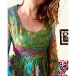 robe longue en soie vintage portée ter