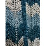 gilet crochet lurex vintage détail boutons