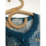 gilet crochet lurex vintage détail étiquette
