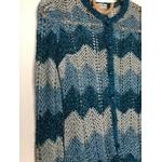 gilet crochet lurex vintage détail