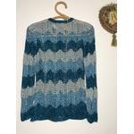 gilet crochet lurex vintage dos