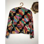 veste en patchwork de daim vintage dos
