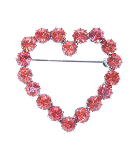 broche coeur lola orange reine rosalie