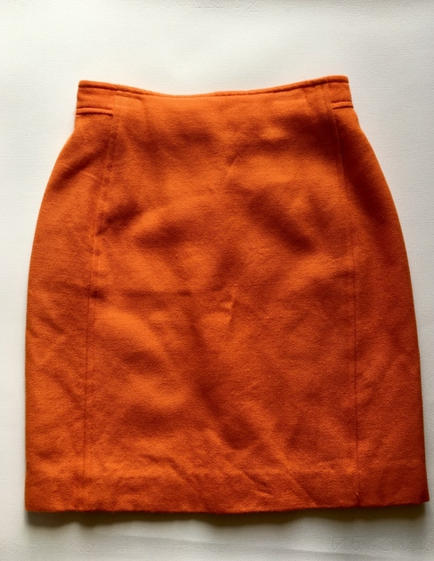 jupe courrèges vintage orange
