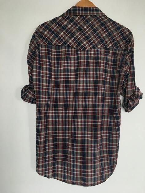 chemise écossaise vintage dos