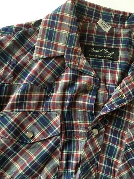 chemise écossaise vintage détails