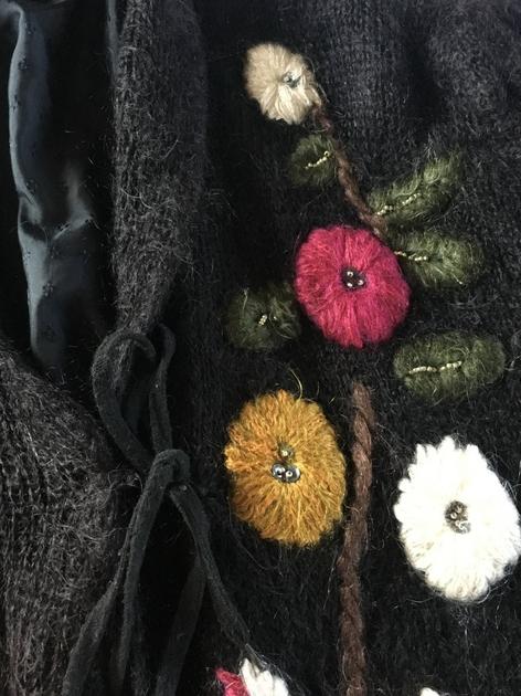 gros gilet en laine détails 2