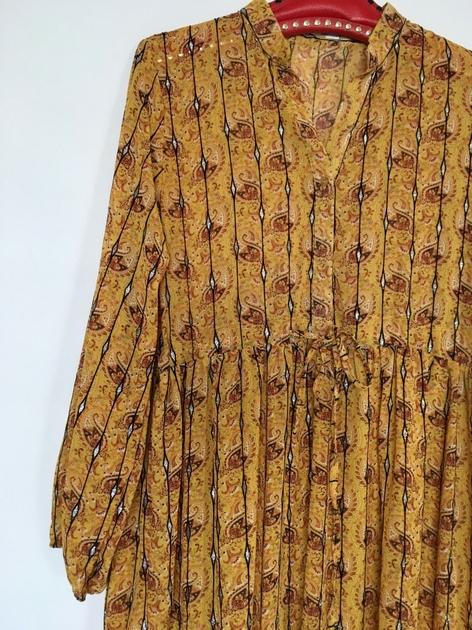 Robe isabel kilibbi moutarde