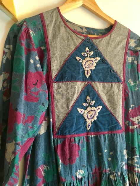 robe indienne détail