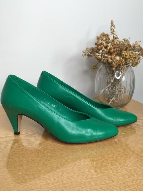 escarpin vert années 80-3