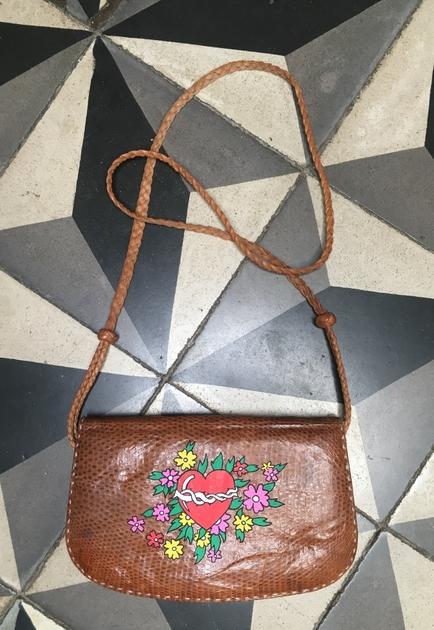 sac vintage fleurs