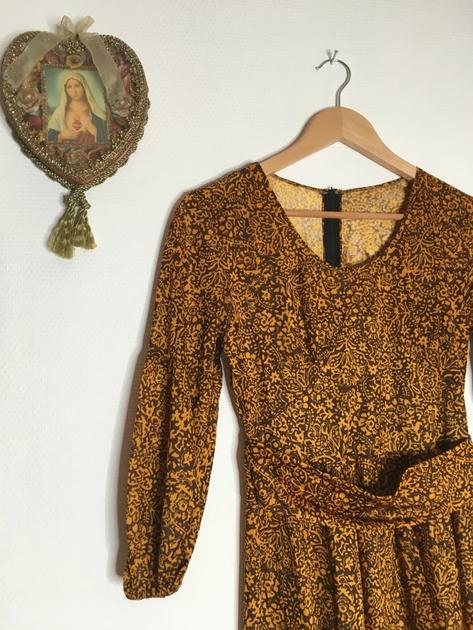 robe longue bohème détail