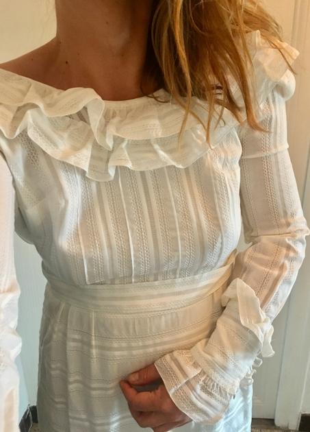 robe blanche vintage