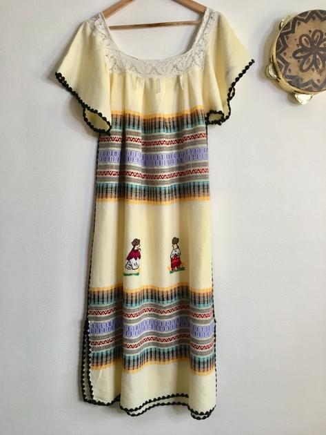 robe mexicaine vintage devant