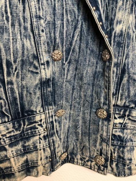 veste en jean bleached vintage détail