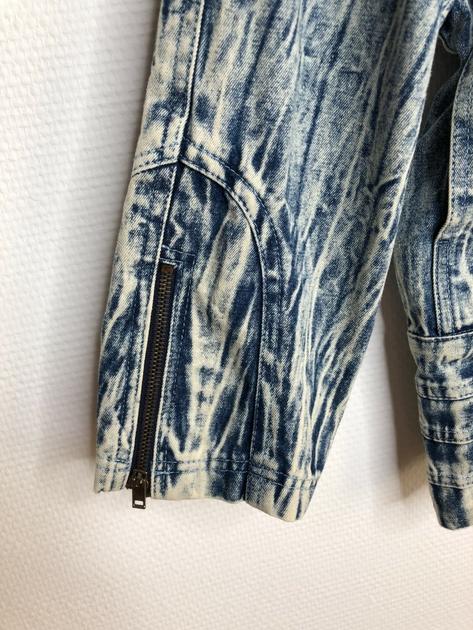 veste en jean bleached vintage détail manches