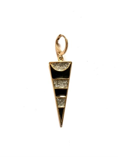 mono bo triangle arenté et noir