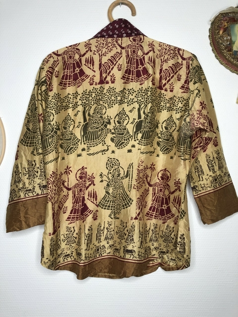 chemise indienne brodée dos