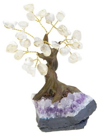 arbre du bonheur pierres roul es en cristal de roche pm. Black Bedroom Furniture Sets. Home Design Ideas