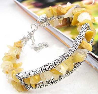 3401-bracelet-tibetain-en-calcite-jaune