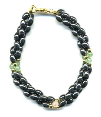 1961-bracelet-hematite-grains-de-riz-en-trois-rangs-aventurine-et-quartz-rose