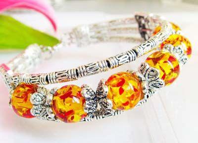 1957-bracelet-tibetain-ambre